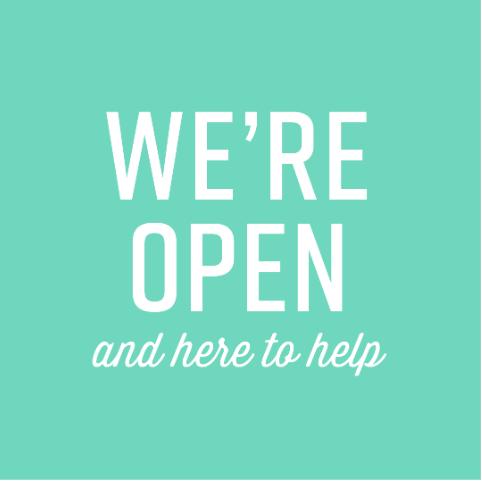 we zijn open en hier om te helpen